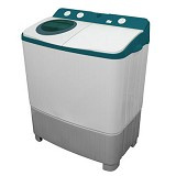 POLYTRON Mesin Cuci Twin Tub [PWM 9556WB] - Blue (Merchant) - Mesin Cuci Twin Tub